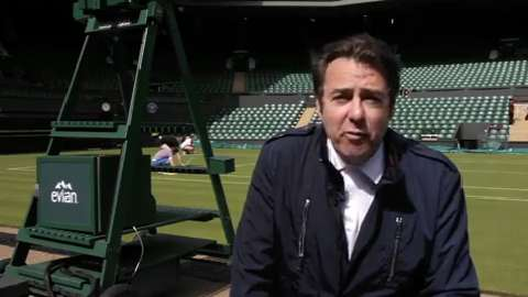 Jonathan Ross Introduces Off Court at Wimbledon 2014