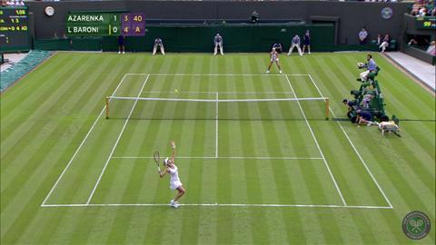 2014 Day 1 Highlights, Victoria Azarenka vs Mirjana Lucic-Baroni, First Round