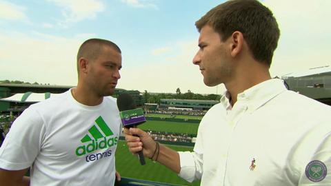 Mikhail Youzhny Live @ Wimbledon Interview