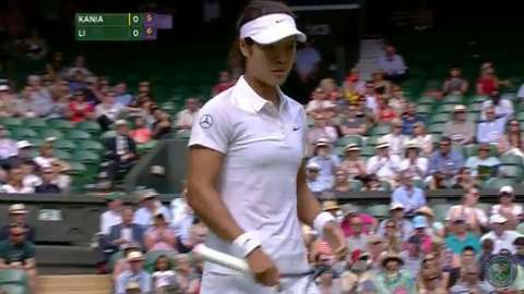 2014 Day 1 Highlights, Li Na vs Paula Kania, First Round