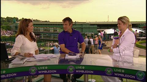 Kim Clijsters visits the Live @ Wimbledon Studio