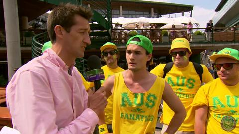 Australian Fanatics on Live @ WImbledon