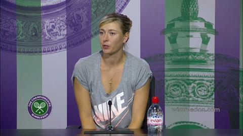Maria Sharapova First Round Press Conference