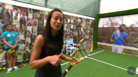 Anne Keothavong and Di Dougherty visit the Play Tennis zone
