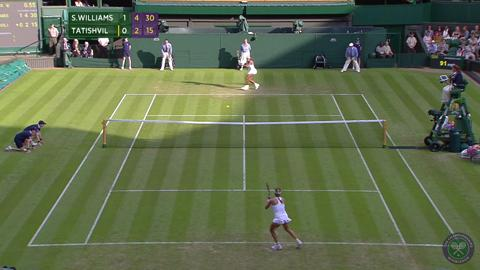 2014 Day 2 Highlights, Serena Williams vs Anna Tatishvili, First Round
