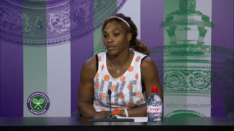Serena Williams First Round Press Conference
