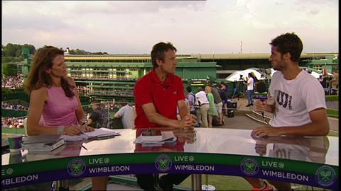 Feliciano Lopez visits the Live @ WImbledon studio