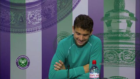 Grigor Dimitrov Second Round Press Conference