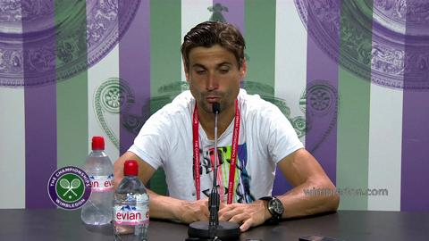 David Ferrer Second Round Press Conference
