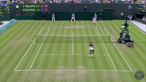 2014 Day 4 Highlights, Serena Williams vs Chanelle Scheepers, Second Round