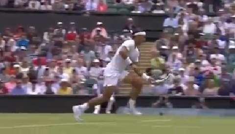 Rafa Nadal's lightning speed