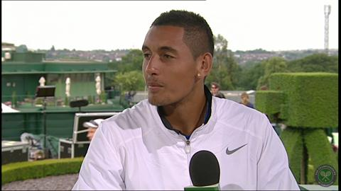 Nick Kyrgios visits the Live @ Wimbledon studio