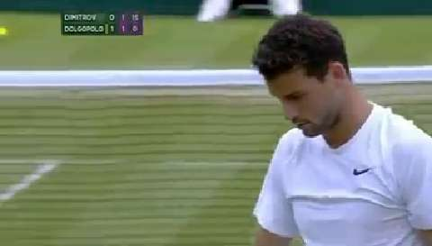 Dimitrov turns on the style