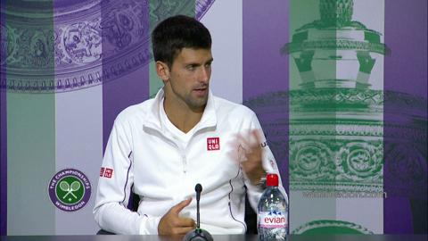 Novak Djokovic Third Round Press Conference