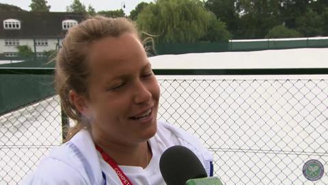 Barbora Zahlavova Strycova Live @ Wimbledon interview
