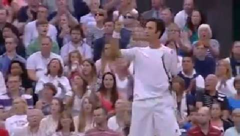Kukushkin hits a screamer v Nadal