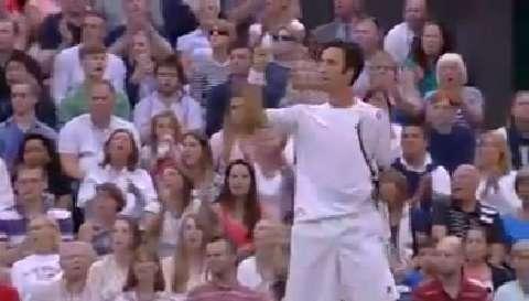 Kukushkin hits a screamer v Nadal