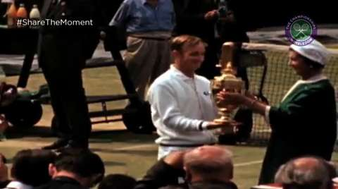 Laver wins the first Open Era Wimbledon - #LaverOpenEra