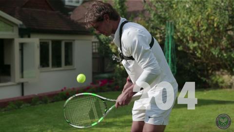 Rafael Nadal's #WIMBJUGGLEDON