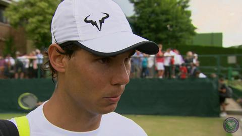 Rafael Nadal Live @ Wimbledon interview