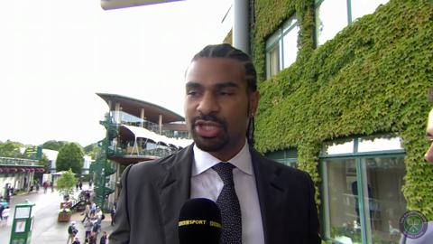 David Haye and Tom Daley at Wimbledon 2014