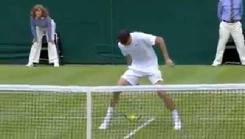 Grigor Dimitrov through the legs winner