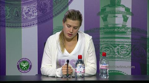 Eugenie Bouchard Fourth Round Press Conference