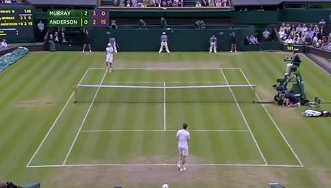 Andy Murray outrageous drop shot
