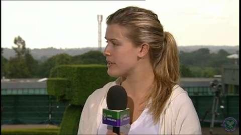 Eugenie Bouchard Live @ Wimbledon interview