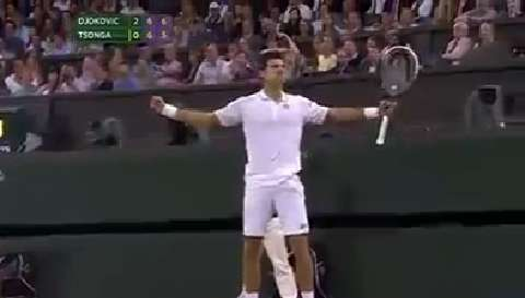 Djokovic drama on match point