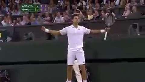 Djokovic drama on match point