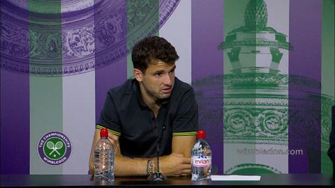 Grigor Dimitrov Fourth Round Press Conference