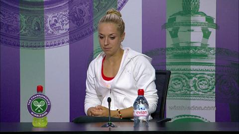 Sabine Lisicki Fourth Round Press Conference