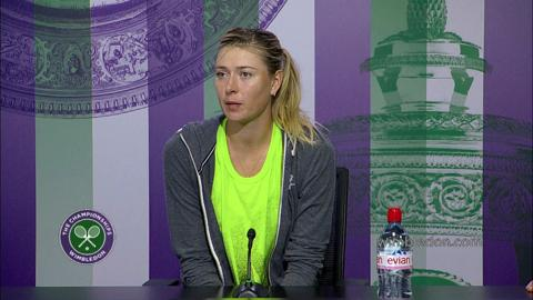 Maria Sharapova Fourth Round Press Conference