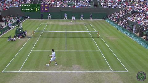 2014 Day 8 Highlights, Milos Raonic vs Kei Nishikori, Fourth Round