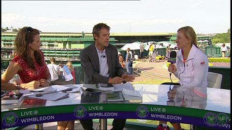 Angelique Kerber Live @ Wimbledon interview