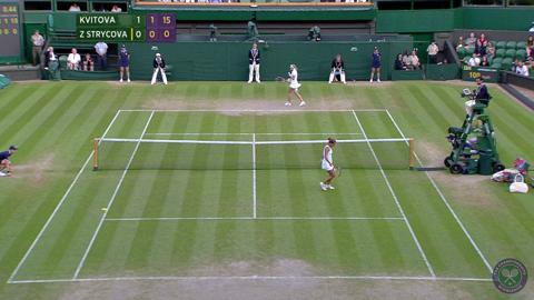 2014 Day 8 Highlights, Petra Kvitova vs Barbora Zahlavova Strycova, Quarter-Finals