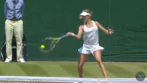 2014 Day 9 Highlights, Eugenie Bouchard vs Angelique Kerber, Quarter-Finals