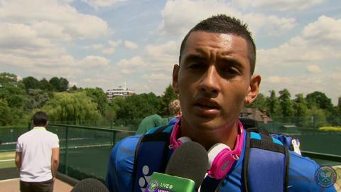 Nick Kyrgios Live @ Wimbledon interview