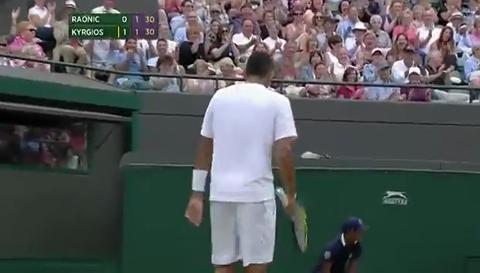 Nick Kyrgios hits outrageous passing shot
