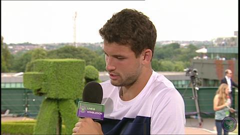 Grigor Dimitrov Live @ Wimbledon interview