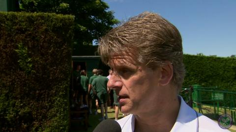 Andrew Castle Live @ Wimbledon interview
