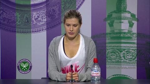 Eugenie Bouchard Semi-Final Press Conference