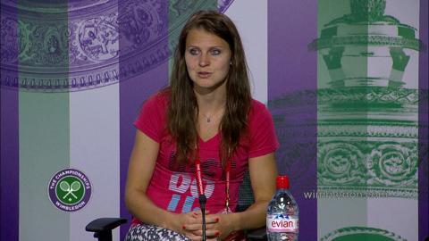 Lucie Safarova Semi-Final Press Conference