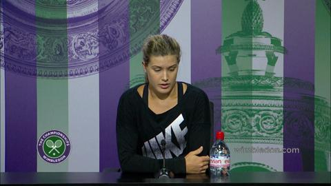 Eugenie Bouchard Pre Final Press Conference