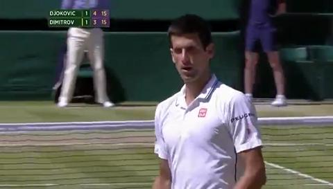 Novak Djokovic incredible 'get'