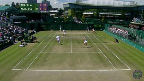 2014 Day 11 Highlights, Mirnyi/Chan vs Murray/Dellacqua, Quarter-Final