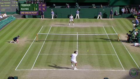 2014 Day 11 Highlights, Roger Federer vs Milos Raonic, Semi-Final