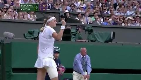 Kvitova wins magnificent point