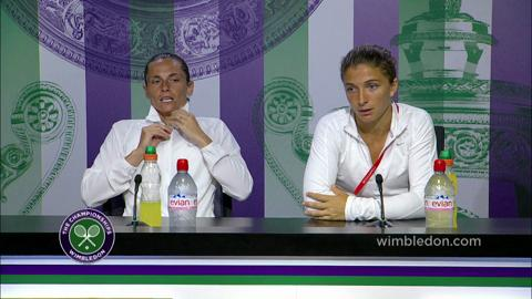 Sara Errani & Roberta Vinci Post Final Press Conference